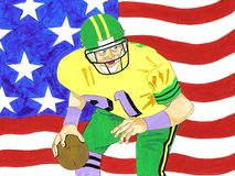 American Football stock illustration