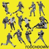 American Football Action Vector Set Royalty Free Stock Images
