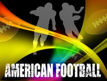 American football advertising poster Stock Image