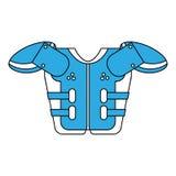 American football armour. Icon vector illustration graphic design Stock Photos