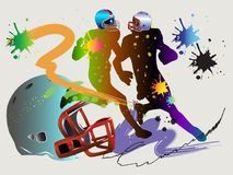 American football art Stock Image