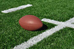 American Football on Artificial Turf Stock Image
