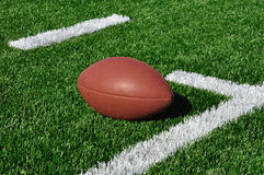 American Football on Artificial Turf Stock Photography