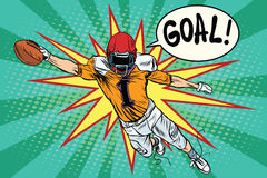 American football athlete ball goal Royalty Free Stock Photo