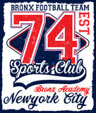 American football Athletic New york Varsity Sport vector print  Stock Photos