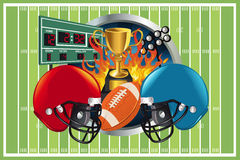 American football background Stock Images