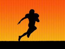 American football background. Illustration. American football player in action Royalty Free Stock Images
