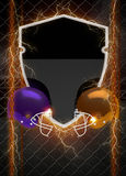 American football background. Abstract american foortball invitation flyer or poster background with space stock photography