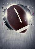 American football background. Abstract american football sport invitation poster or flyer background with empty space royalty free stock photo