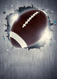 American football background. Abstract american football sport invitation poster or flyer background with empty space stock image