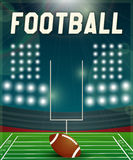 American football. Background illuminated by floodlights. Vector EPS10 illustration Stock Images