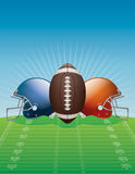 American Football Background Illustration Royalty Free Stock Photos