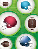 American Football Background Illustration. American football background. Vector EPS 10 available. EPS file contains transparencies stock illustration