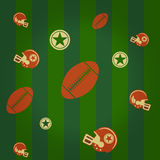 American football background Royalty Free Stock Images