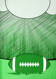 American football background Stock Image