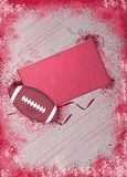 American football background. American football sport poster or flyer background with space royalty free stock photo