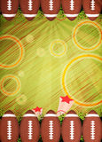 American football background. American football sport poster or flyer background with space royalty free stock images