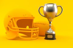 American football background with trophy vector illustration