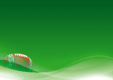 American football background. Vector background of American football ball with green grass Stock Photo