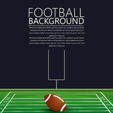American football background. American football vector background card with text Stock Photos