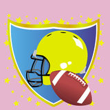 American football badge. This image represents a concept for an American football badge Royalty Free Stock Photography