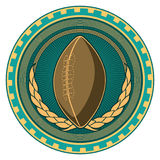 American football badge. Stock Photography