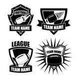 American football badge collection Royalty Free Stock Photos
