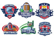 American football badge design. Vector of american football badge design Stock Photos