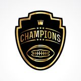 American Football Champions Badge Emblem Illustration Royalty Free Stock Images