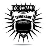 American football badge icon shield Royalty Free Stock Images