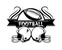 American football badge. Illustration icon Stock Photography
