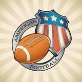 American football badge Royalty Free Stock Photos