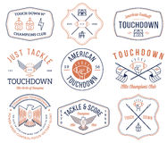 American football badges and crests vol 2 colored Stock Image