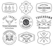 American football badges and crests vol 2 Royalty Free Stock Images
