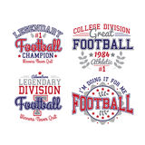 American Football Badges Stock Images