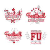 American Football Badges Royalty Free Stock Image