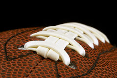American football ball. Background. Close up of american football ball. Background Stock Images