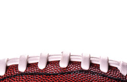 American football ball banner on white background and place for text Royalty Free Stock Photography