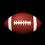 American Football Ball on black Royalty Free Stock Photography