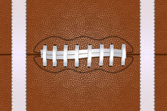American Football ball close up background. Vector illustration Stock Image