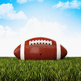 American football ball. 3d background Stock Photography