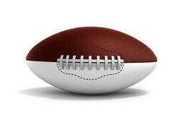 American football ball 3d render isolated on white background. American football ball 3d render isolated on white Stock Photo
