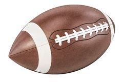 American football ball, 3D rendering. Isolated on white background Royalty Free Stock Photos