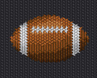 American football ball embroidery on fabric Stock Images