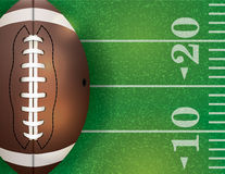 American Football Ball and Field Illustration Royalty Free Stock Photo