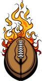 American Football Ball Flaming Cartoon royalty free illustration