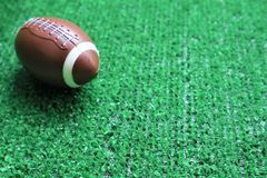 American football ball royalty free stock photo