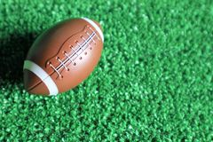American football ball stock photography