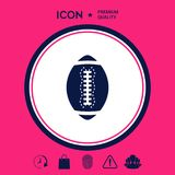 American Football Ball icon Royalty Free Stock Image