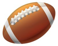 Heart Shape American Football Ball. An American football ball icon illustration Stock Images